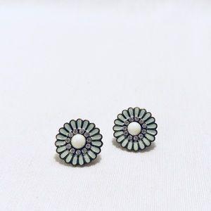 Jewelry - Enamel Flower Earrings